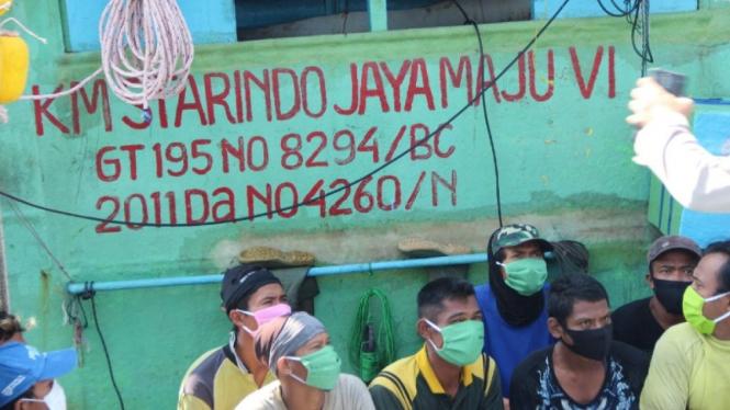Para ABK kapal ikan KM Starindo Maju Jaya.