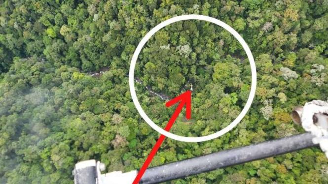 Posisi helikopter milik PT Nuh yang hilang