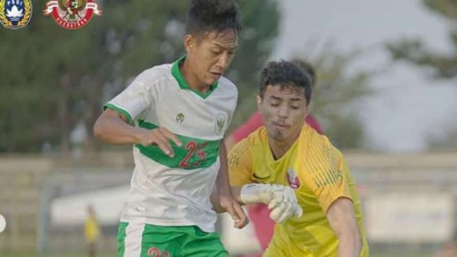 Gelandang Timnas Indonesia U-19, Beckham Putra Nugraha.