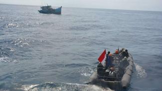 Terobos Laut Indonesia, 2 Kapal Komunis Vietnam Disergap TNI