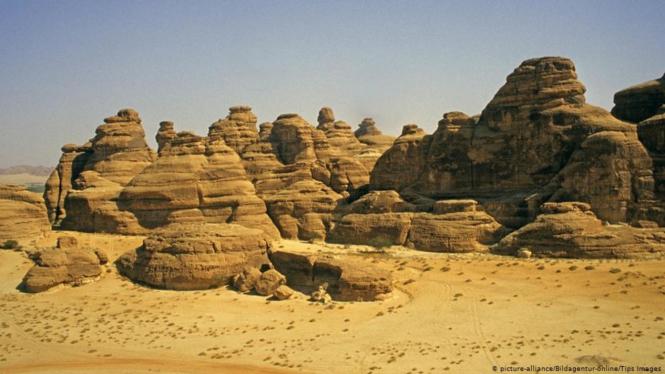 Gurun Nefud di Arab Saudi.
