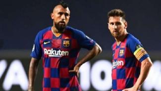Arturo Vidal dan Lionel Messi