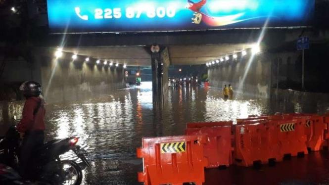 Genangan air di Jakarta.