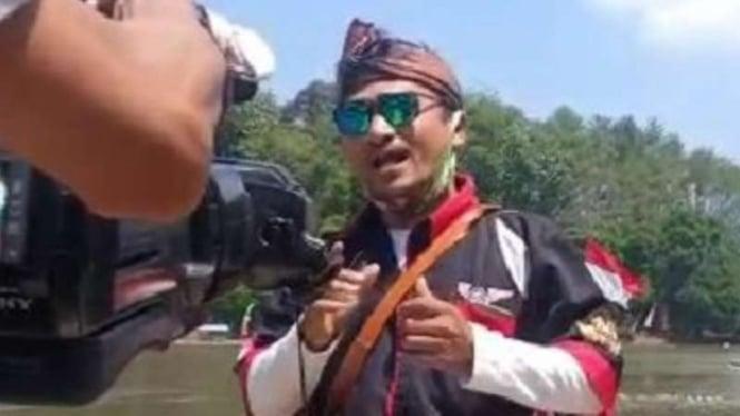 Ketua Dewan kebudayaan Kabupaten Garut (DKKG), Irwan Hendarsyah