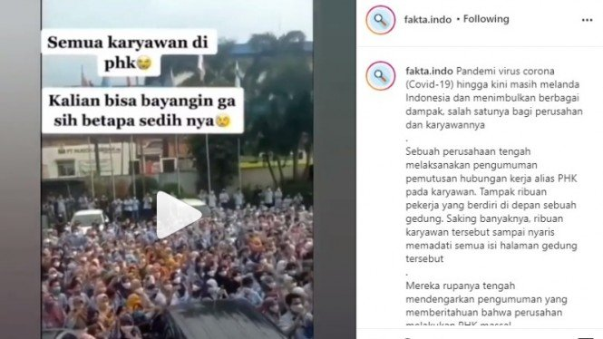Viral Video PHK Massal Ratusan Karyawan