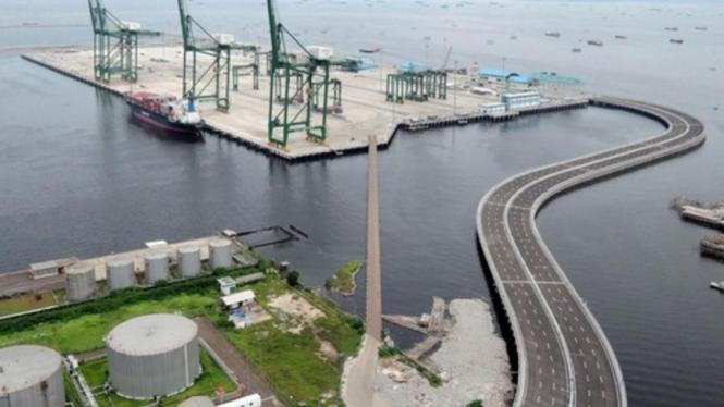 Pelabuhan Patimban di Subang, Jawa Barat.