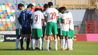 Timnas Indonesia U-19 saat menghadapi Qatar