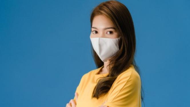 Ilustrasi masker kain.