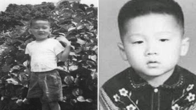 foto masa kecil jackie chan.