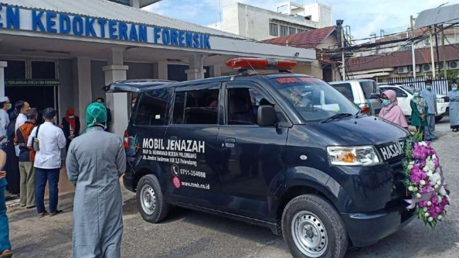 Tenaga medis di RSMH Palembang, Sumatera Selatan, meninggal akibat COVID-19.