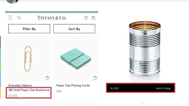 Paper clip Tiffany n Co harga Rp22 juta