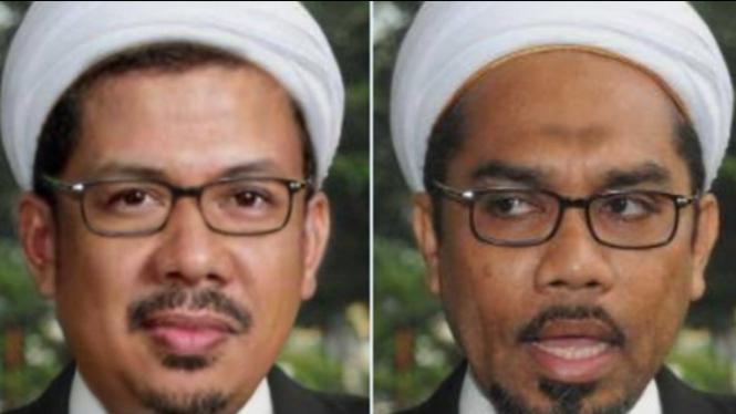 Foto mirip Fahri Hamzah dan Ali Muchtar Ngabalin (Twitter/tukangkedit)