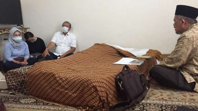 Suasana di rumah duka meninggalnya putri MS Hidayat, Tasha Terresita Dasaad.