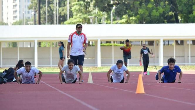 Pelatnas Atletik di Stadion Madya Gelora Bung Karno