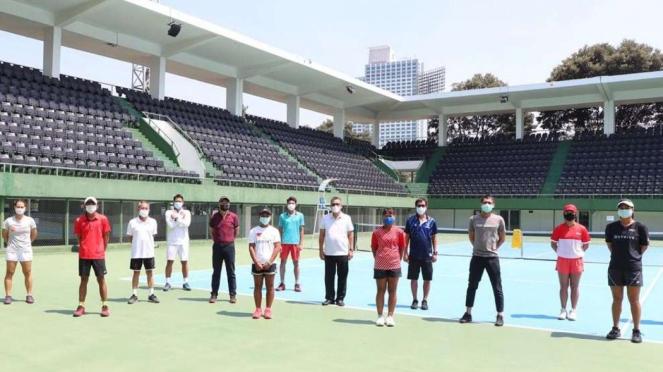 Kemenpora pantau pelatnas tenis PB Pelti