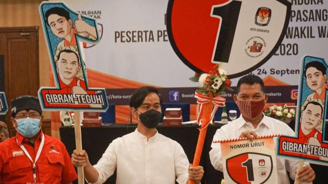 Calon Wali Kota dan Wakil Wali Kota Solo Gibran Rakabuming dan Teguh