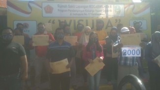 Wisuda RSLI Surabaya Eks Pasien COVID-19