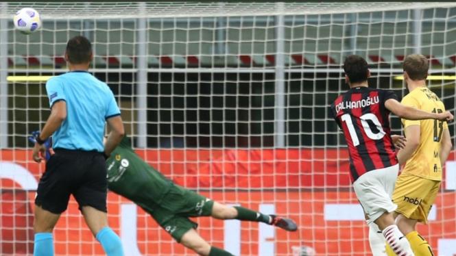 Duel AC Milan vs Bodo/Glimt di ajang kualifikasi Liga Europa 2020/2021.
