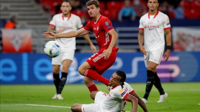 Duel Piala Super Eropa 2020 antara Bayern Munich vs Sevilla