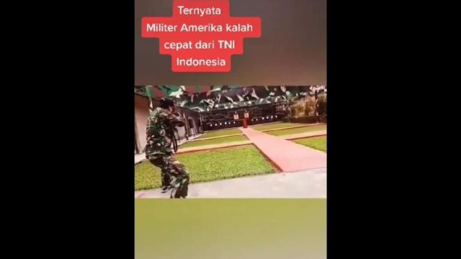 Tangkapan Layar Adu Cepat Menembak TNI dan Militer AS