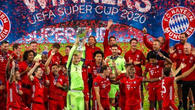 Juara Piala Super Eropa 2020, Bayern Munich.