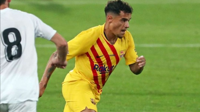 Pemain Barcelona, Philippe Coutinho.