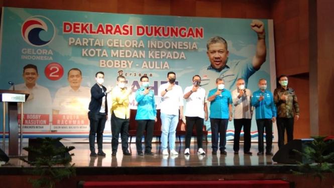Deklarasi dukungan Partai ?Gelora ke Bobby Nasution-Aulia Rahman di Pilkada Medan.