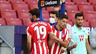 Penyerang Atletico Madrid, Luis Suarez dan DIego Costa