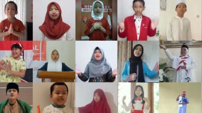 Para Remaja Indonesia menampilkan bakatnya berorasi