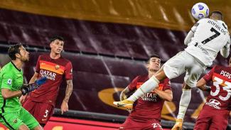 Lompatan mengerikan Cristiano Ronaldo saat bobol gawang AS Roma