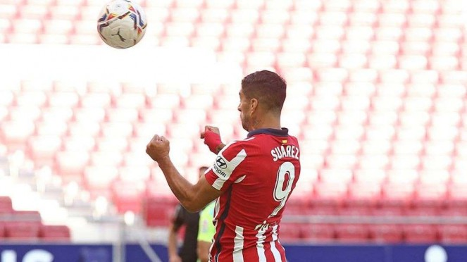 Penyerang Atletico Madrid, Luis Suarez