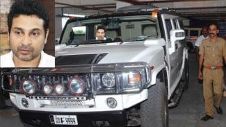 Mobil Hummer yang dipakai menabrak satpam di India
