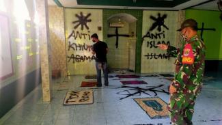 Aksi vandalisme di Musala Tangerang