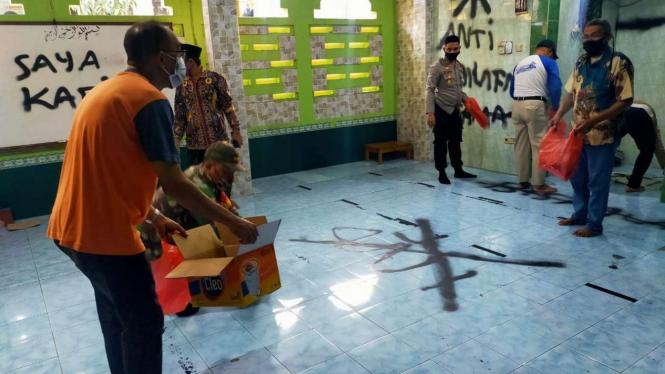 Vandalisme di Musala Darussalam Perumahan Elok, Gelam, Pasar Kemis, Tangerang.