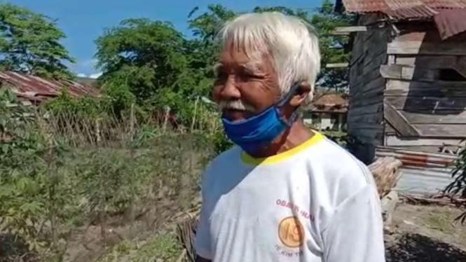 Diro Sutopo (84 tahun) eks Tapol PKI di Pulau Buru.