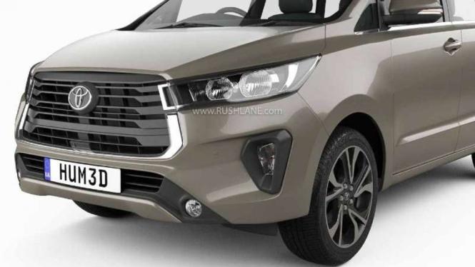 Toyota Innova punya desain bumpe dan pelek baru