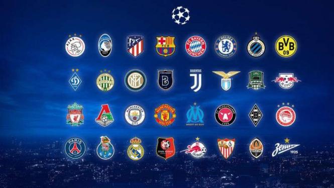 32 peserta Liga Champions 2020/21.