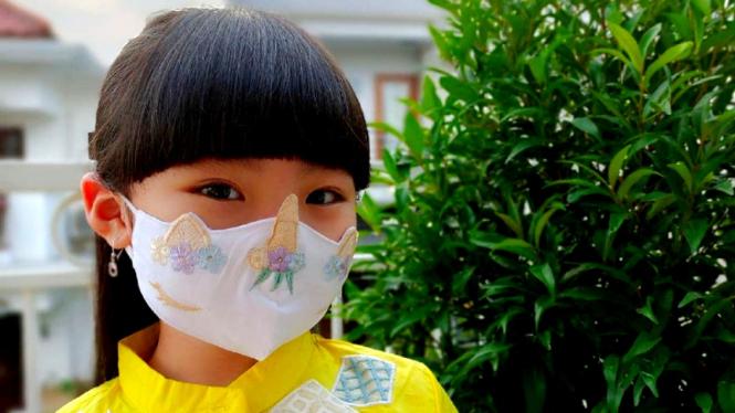 Model masker lucu untuk anak-anak