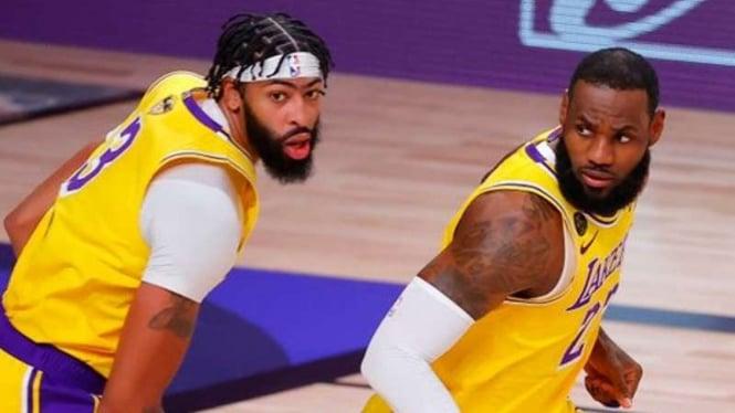 LeBron James dan Anthony Davis dua pemain LA Lakers