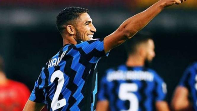 Winger Inter Milan, Achraf Hakimi.