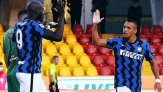 Pemain Inter Milan, Romelu Lukaku dan Alexis Sanchez.