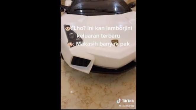 Tangkapan layar video TikTok Kaesang Pangarep