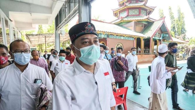 Cawalkot Surabaya Eri Cahyadi didukung Komunitas Muslim Tionghoa