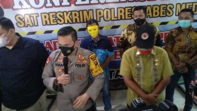 Waka Polrestabes Medan, AKBP Irsan Sinuhaji di Mako Polres Medan