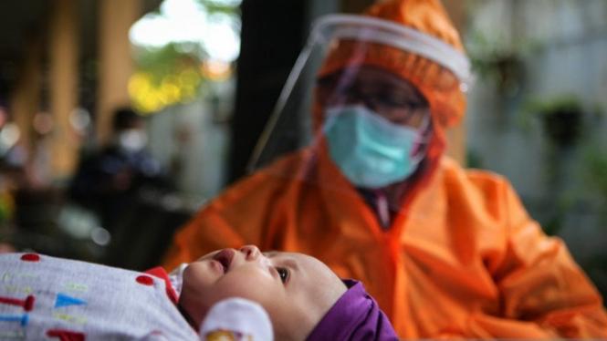 Anak positif COVID-19 di Aceh