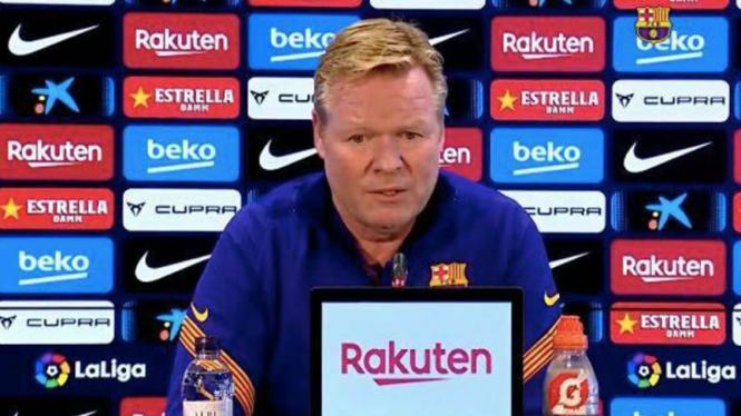 Pelatih Barcelona, Ronald Koeman.