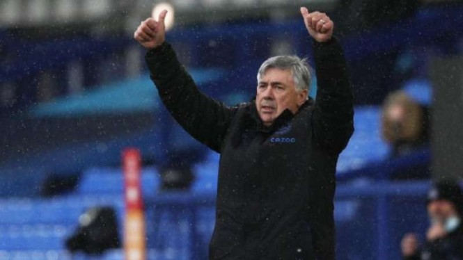 Manajer Everton, Carlo Ancelotti.