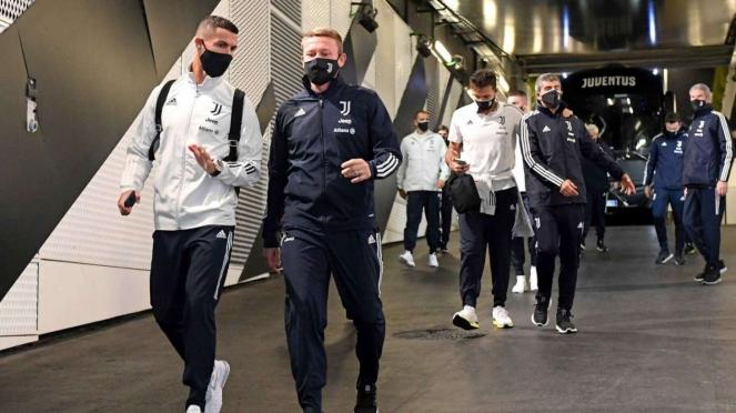 Cristiano Ronaldo dan pemain Juventus tiba di Allianz Stadium