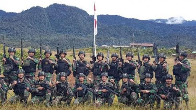 VIVA Militer: Prajurit Satgas Yonif Raider 323/BP di Papua.