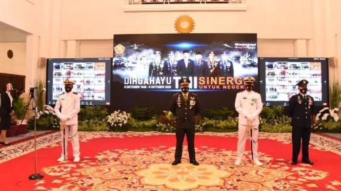VIVA Militer : 3 Prajurit TNI dapat Bintang Tanda Kehormatan dari Presiden RI